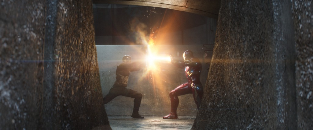 Marvel's Captain America: Civil War L to R: Captain America/Steve Rogers (Chris Evans) and Iron Man/Tony Stark (Robert Downey Jr.) Photo Credit: Film Frame © Marvel 2016